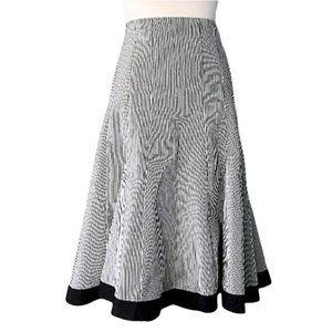 NANETTE LEPORE flattering striped trumpet skirt, 8
